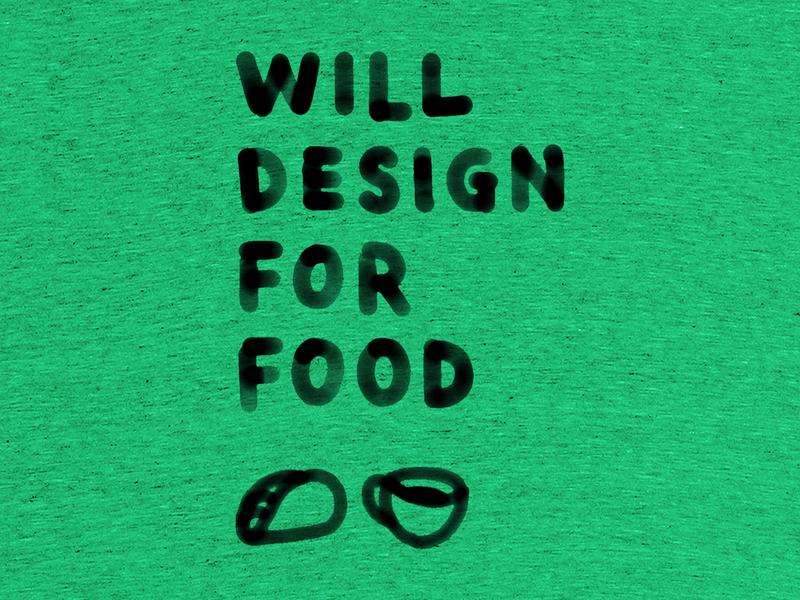 Will Design For Food food design illustration handlettering t-shirt