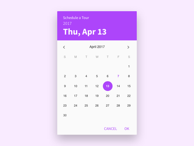Day 25: Date Picker date picker ui30 ui