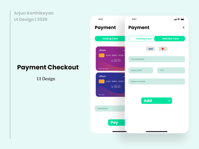 Payment Checkout Pages | UI Design user experience design ui design uiux design uiux uidesign ui daily ui challenge daily ui 001 dailyui app