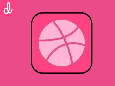 Dribbble Design design logo purple pink dribbble