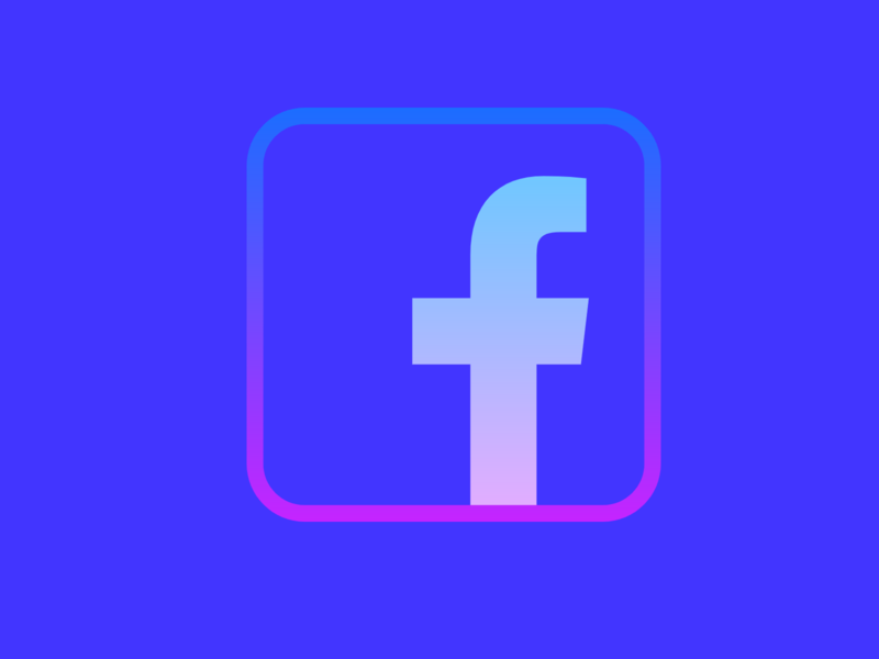 Facebook Logo social media design social app social network social media socialmedia rainbow color rainbow flat web app icon typography ux vector branding ui logo design facebook