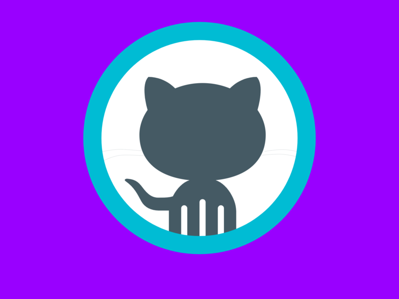 GitHub Logo (First Variation) octocat graphic design app icon typography ux vector branding logo ui design illustration github