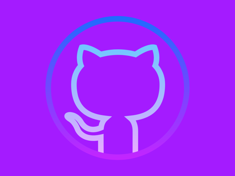 GitHub Logo (Rainbow Color Variation) octocat github web design webdesign website web app icon typography ux vector branding ui logo illustration design