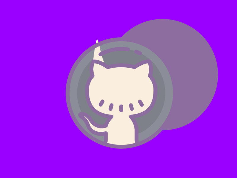GitHub Logo (Second Variation) octocat hub git github web hosting flat web app icon typography ux vector ui branding logo illustration design