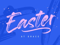 Easter 2020 at Grace easter church logo grace