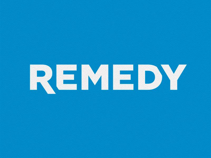 Remedy Logo remedy logo rebranding blue