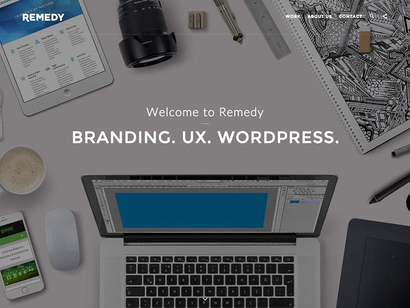 Remedy Website remedy branding ux wordpress