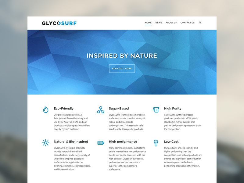 GlycoSurf Site glycsurf blue chemical website site