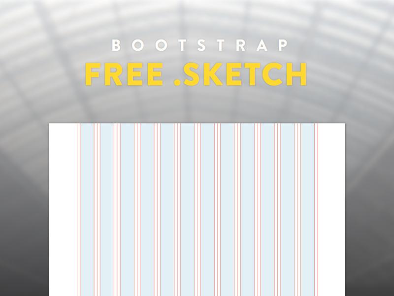 FREE Bootstrap .SKETCH template tablet .sketch sketch mobile layout grid free framework desktop bootstrap