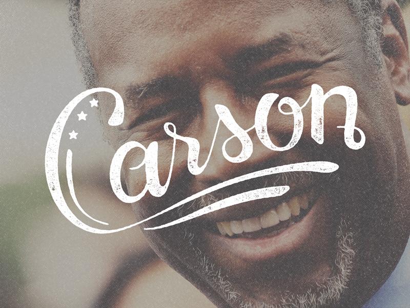 Carson Hand Lettering president vector hand lettering ben carson sketch