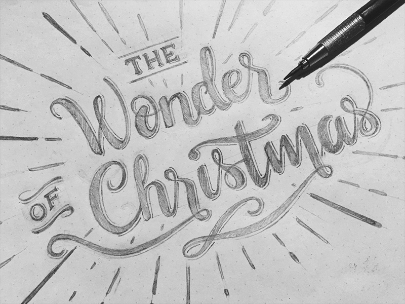 Wonder christmas sketch