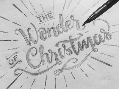 The Wonder of Christmas Lettering