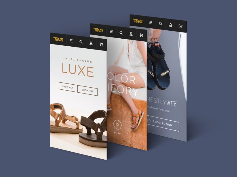 Teva Mobile Landing Pages typography website landing page deckers teva