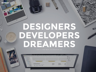 Remedy Site Update portfolio dreamers developers designers website remedy