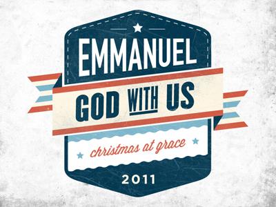 Emmanuel Sermon Logo emmanuel logo christmas god vintage modernism