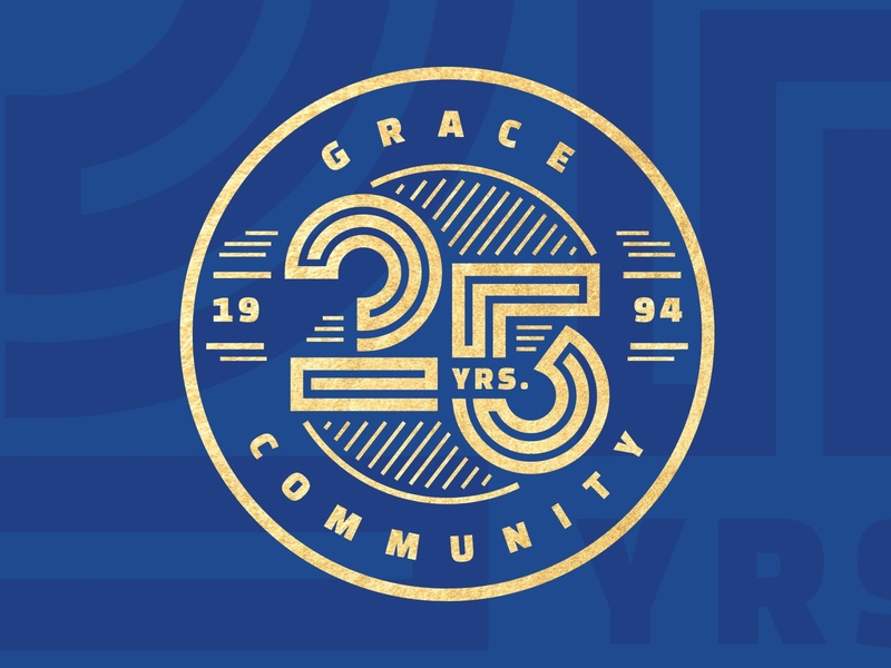 25th Anniversary - Grace Community Church logo year church anniversary 25