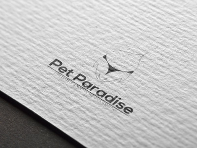 Pet paradise logo design illustration typography branding logo minimal
