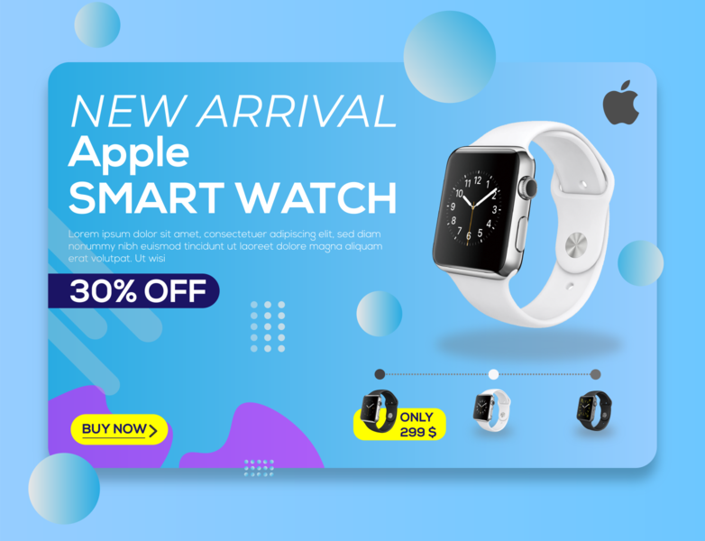 Apple watch Add Banner design graphic design illustraion advertise social media ads social media banner branding banner ads banner ad banner design add banner add
