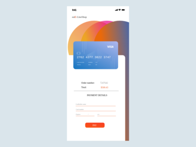Daily UI - 002 credit card checkout dailyui002 ui dailyui