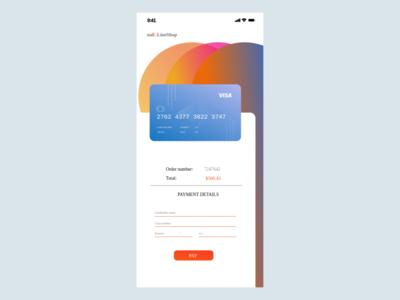 Daily UI - 002 credit card checkout dailyui002 ui dailyui