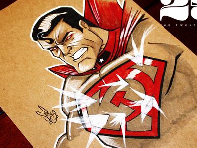 Dribbble superman red son salvatier