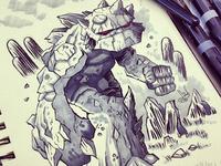 Inktober - Rock Monster