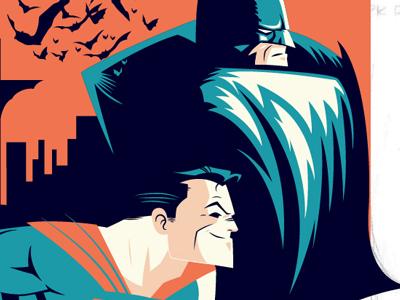 Dribbble superman batman salvatier