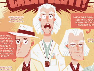 You're the Doc, Doc! vector art character design digital painting illustration doc brown bttf back to the future
