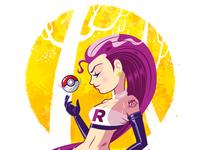 Jesse (Team Rocket) Pin-up
