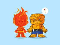 Lil Human Torch & The Thing - Lil BFFs series 2