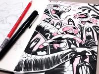 Sushi & Gazpacho Sketch