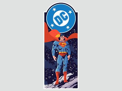 DC Corner Box Designs - Superman comics superheroes corner box vector character design design illustration dc comics superman