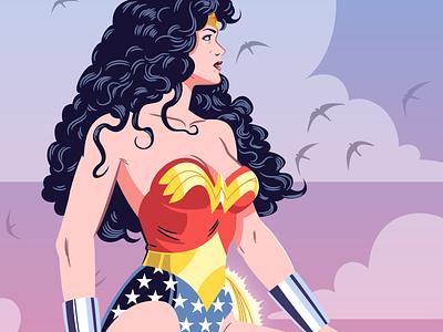 DC Corner Box Designs - Wonder Woman superheroes corner box design wonder woman dc comics vector character design illustration graphic design