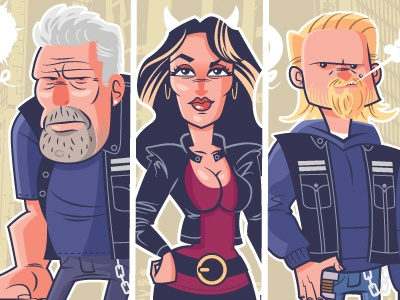 Family Business - A tribute to Sons Of Anarchy sons of anarchy illustration giclee character design gallery