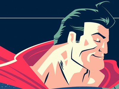 You Are Here for a Reason (Superman) superman dc comics illustration