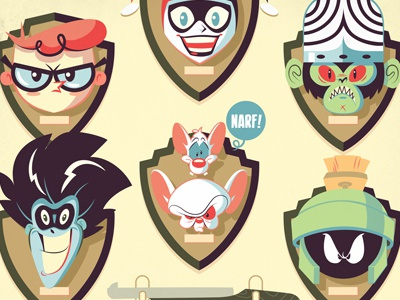 WB Tribute: One Buwwet Weft marvin the martian pinky and the brain freakazoid harley quinn dexter mojo mojo illustration character design looney tunes
