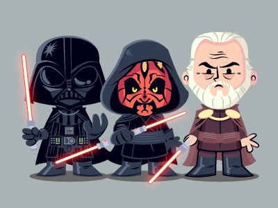 Oh Sith! character design sith count dooku darth maul darth vader star wars