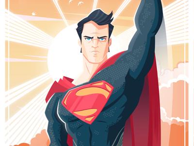 Dribbble superman salvatier