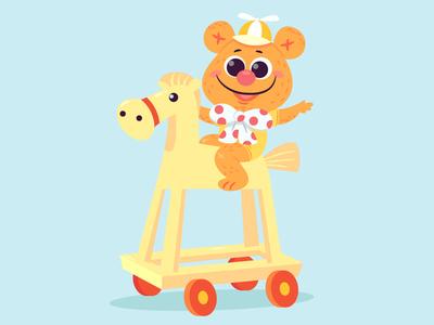 Muppet Babies - Fozzie Bear