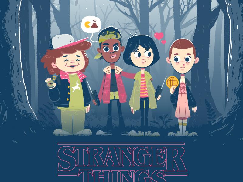 Stranger Things  illustration character design demagorgon stranger things