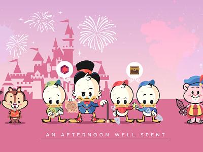 Lil BFFs - an Afternoon Well Spent illustration character design disney lil bffs