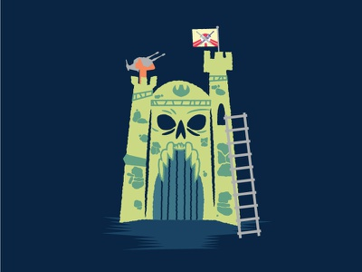Castle Grayskull illustration masters of the universe he-man castle grayskull