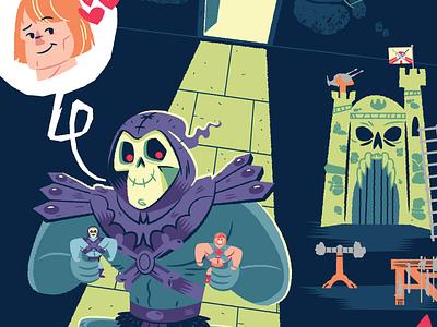 Skeletors Secret  character design illustration masters of the universe mattel skeletor