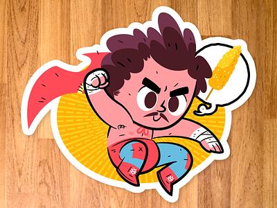 Nacho Libre sticker vector character design movies nacho libre
