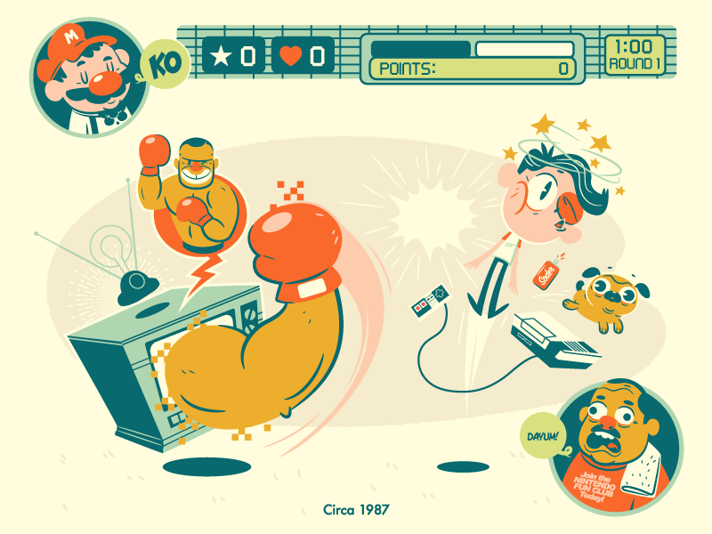 Mike Tyson's Punch Out illustration nintendo mike tyson punch out