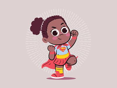 Lil Girl Power - Jayda character design illustration dccomics supergirl