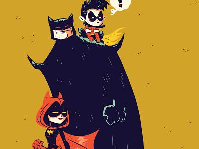 Bat Family Matters illustration character design dccomics batman