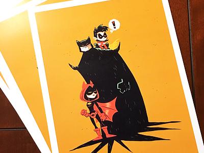 Bat-Family Matters print illustration character design dccomics robin batgirl batman