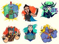 Thor Ragnarok (Facebook Stickers)