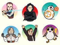 Star Wars: Last Jedi -- Facebook digital stickers